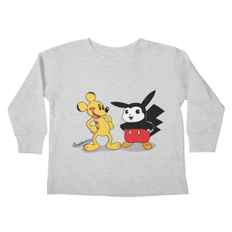 Mickachu Kids Toddler Longsleeve T-Shirt by Cart00nlion's Artist Shop