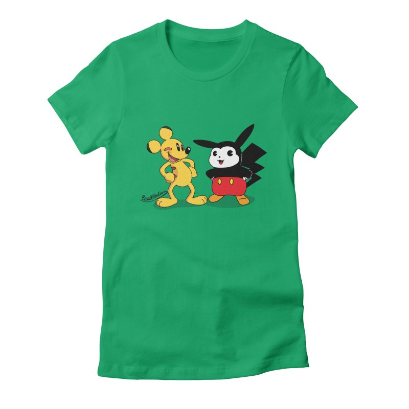 Mickachu Women's Fitted T-Shirt by Cart00nlion's Artist Shop