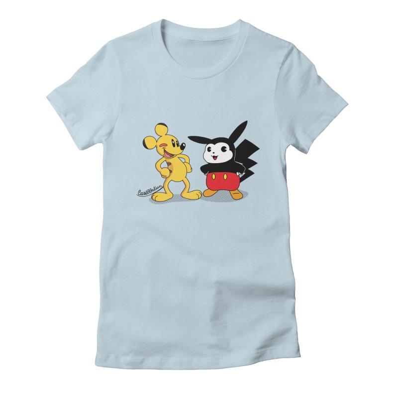 Mickachu Women's Fitted T-Shirt by Cart00nlion's Artist Shop