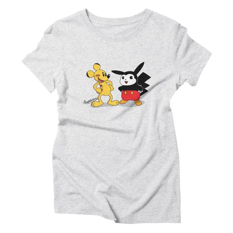 Mickachu Women's Triblend T-shirt by Cart00nlion's Artist Shop