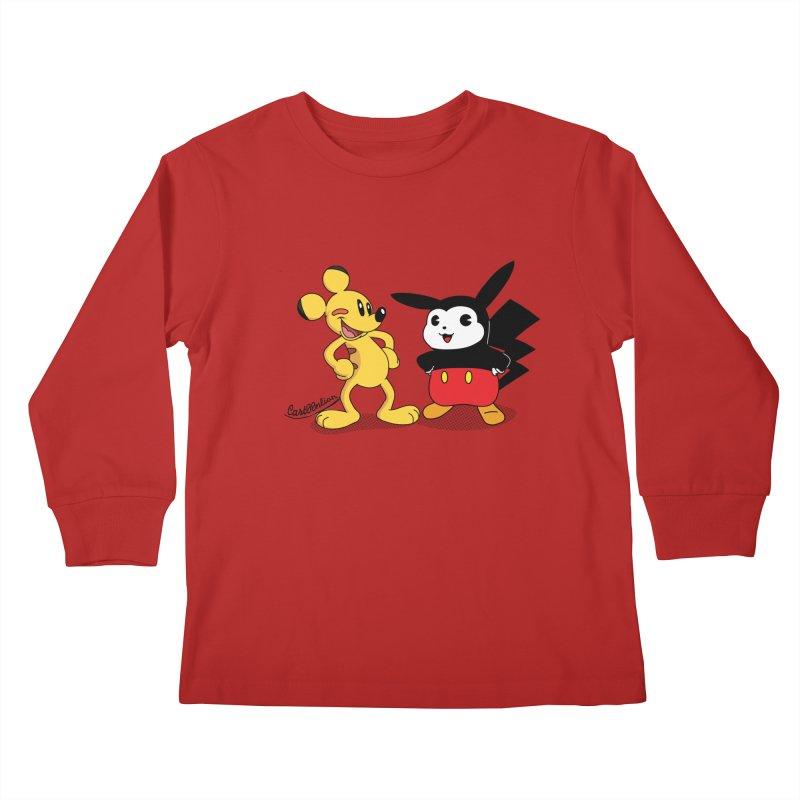 Mickachu Kids Longsleeve T-Shirt by Cart00nlion's Artist Shop