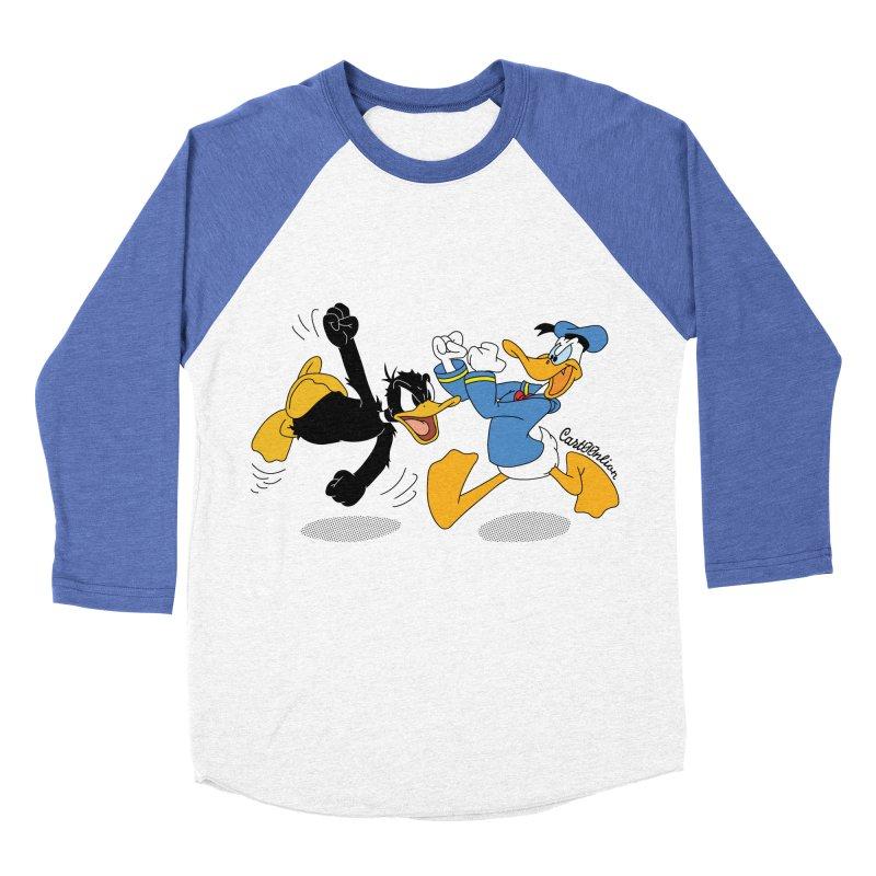 Mr. D. Duck Men's Baseball Triblend T-Shirt by Cart00nlion's Artist Shop