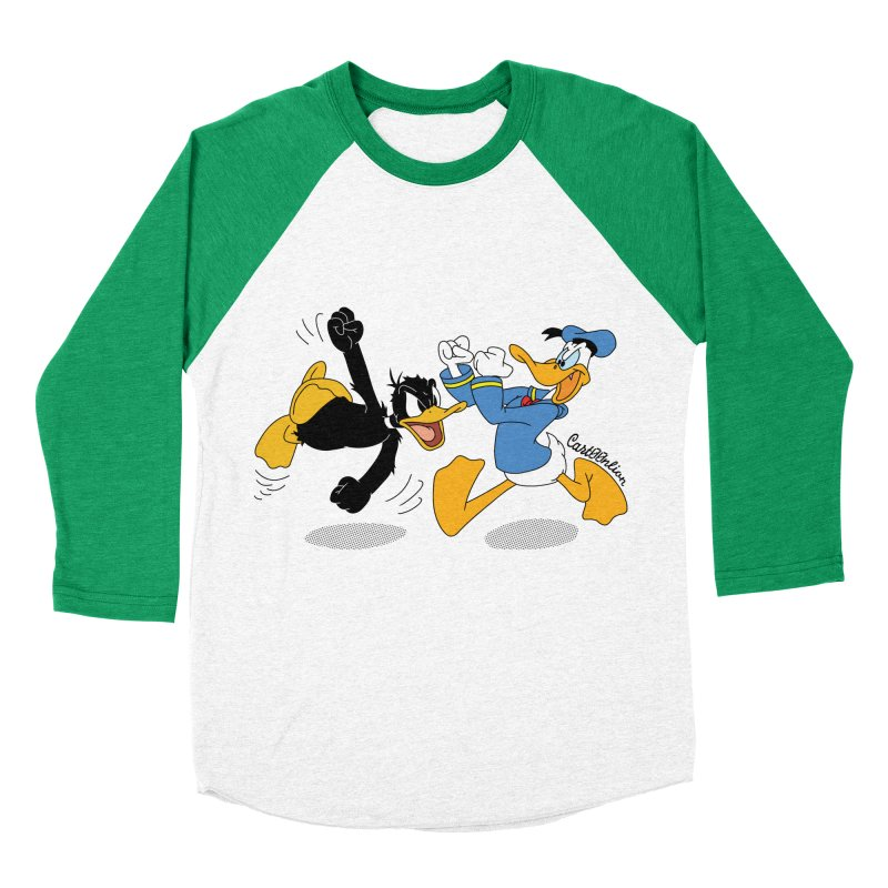 Mr. D. Duck Men's Baseball Triblend T-Shirt by Cart00nlion's Artist Shop