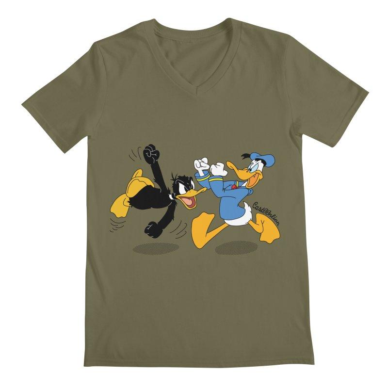 Mr. D. Duck Men's V-Neck by Cart00nlion's Artist Shop