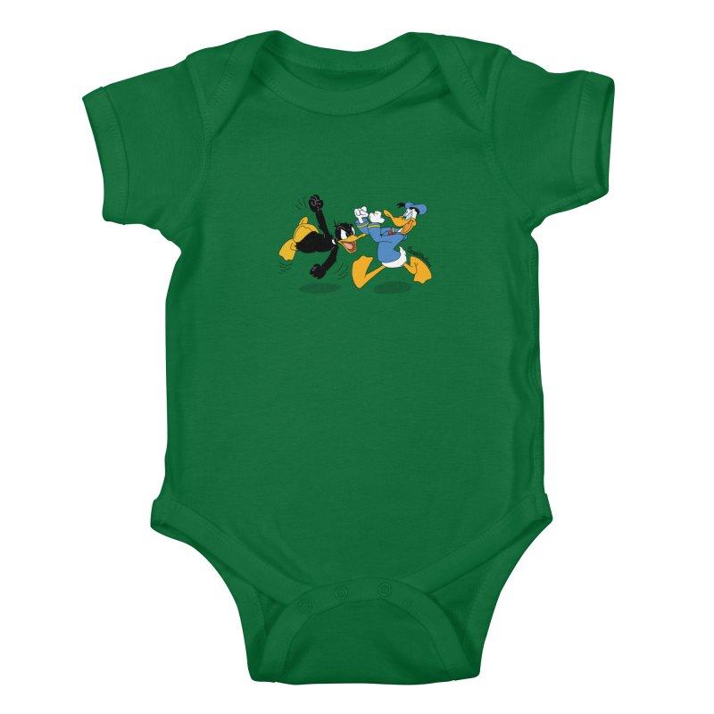 Mr. D. Duck Kids Baby Bodysuit by Cart00nlion's Artist Shop