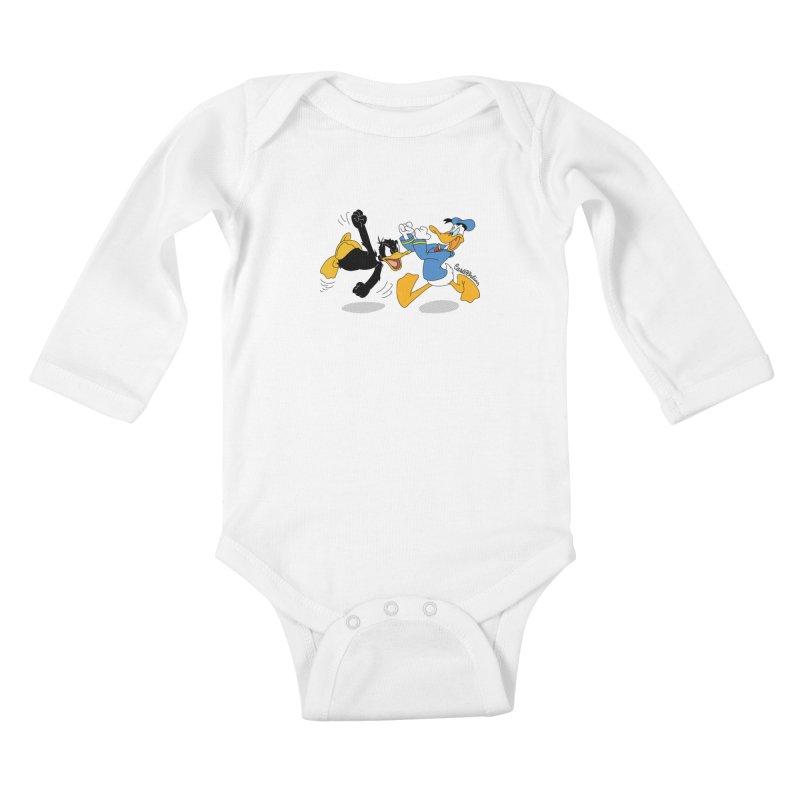 Mr. D. Duck Kids Baby Longsleeve Bodysuit by Cart00nlion's Artist Shop