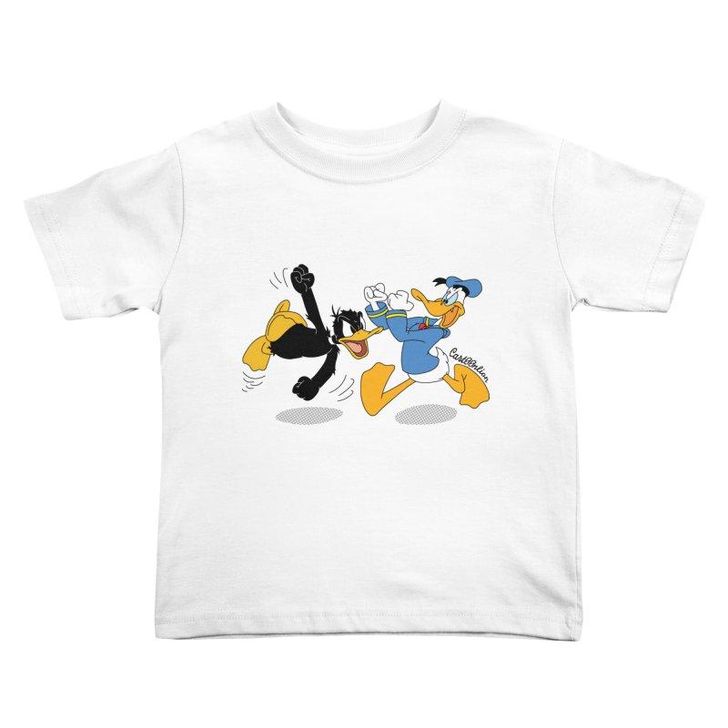 Mr. D. Duck Kids Toddler T-Shirt by Cart00nlion's Artist Shop