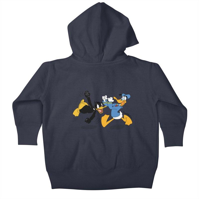 Mr. D. Duck Kids Baby Zip-Up Hoody by Cart00nlion's Artist Shop