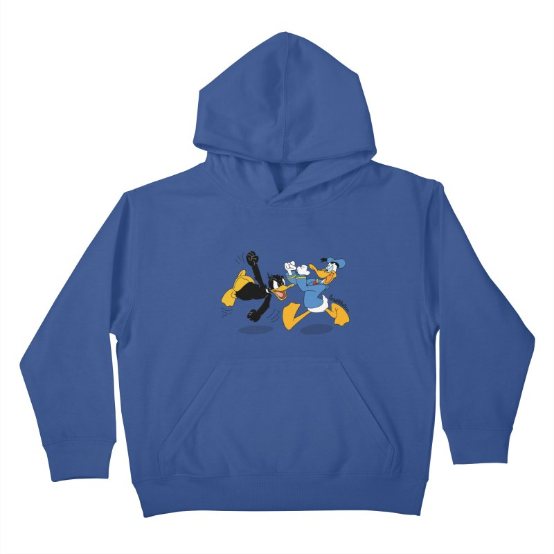 Mr. D. Duck Kids Pullover Hoody by Cart00nlion's Artist Shop