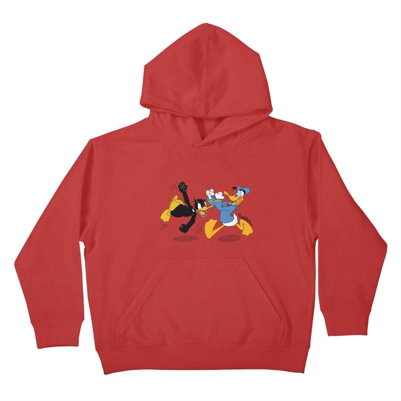 Mr. D. Duck Kids Pullover Hoody by Cart00nlion's Artist Shop