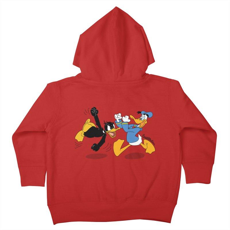 Mr. D. Duck Kids Toddler Zip-Up Hoody by Cart00nlion's Artist Shop