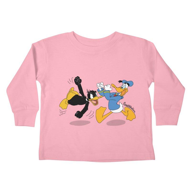 Mr. D. Duck Kids Toddler Longsleeve T-Shirt by Cart00nlion's Artist Shop
