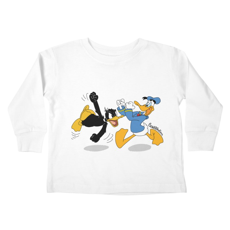 Mr. D. Duck Kids Toddler Longsleeve T-Shirt by Cart00nlion's Artist Shop