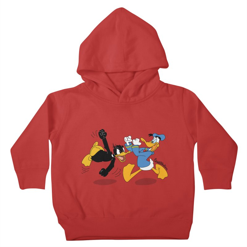 Mr. D. Duck Kids Toddler Pullover Hoody by Cart00nlion's Artist Shop