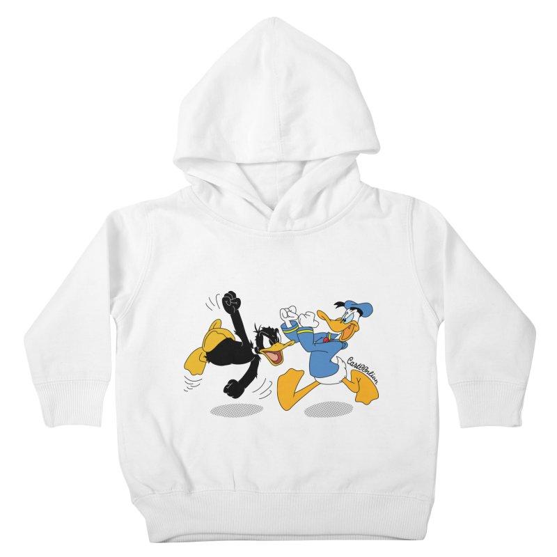 Mr. D. Duck Kids Toddler Pullover Hoody by Cart00nlion's Artist Shop