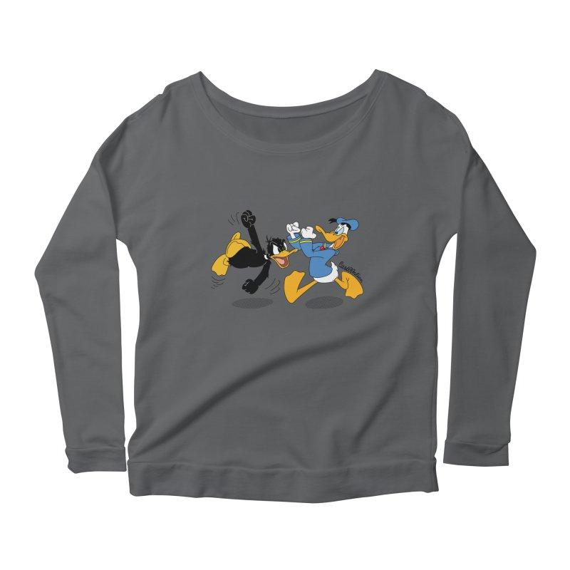 Mr. D. Duck Women's Scoop Neck Longsleeve T-Shirt by Cart00nlion's Artist Shop