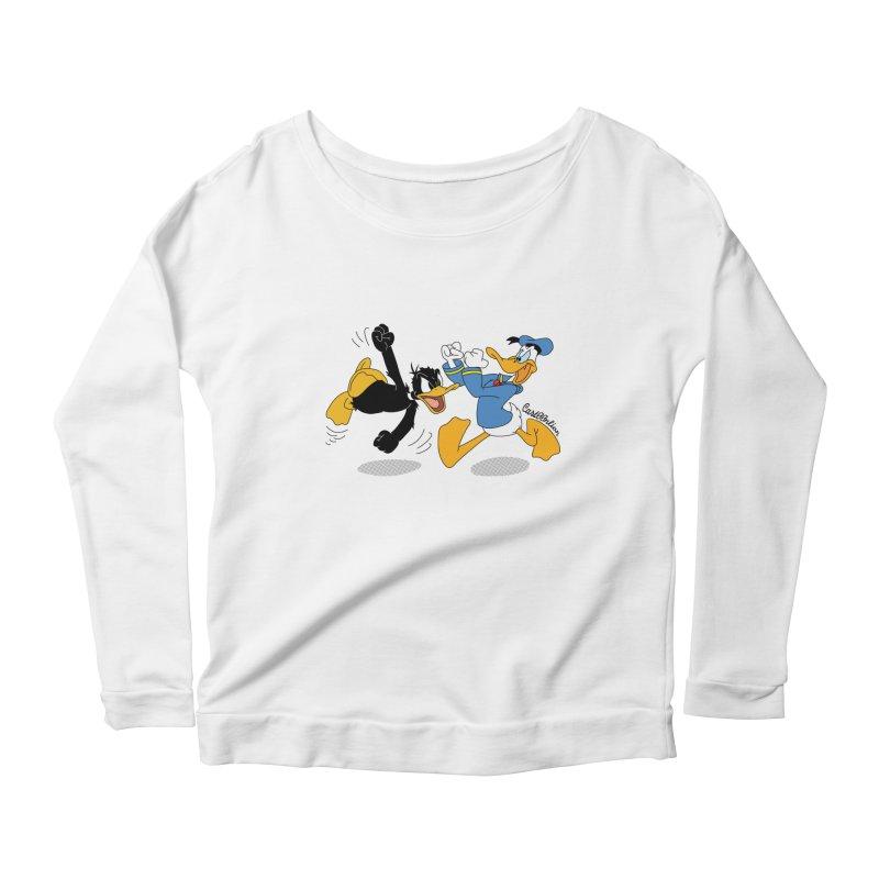 Mr. D. Duck Women's Longsleeve Scoopneck  by Cart00nlion's Artist Shop