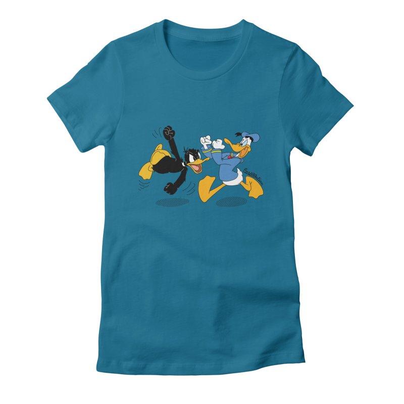 Mr. D. Duck Women's Fitted T-Shirt by Cart00nlion's Artist Shop