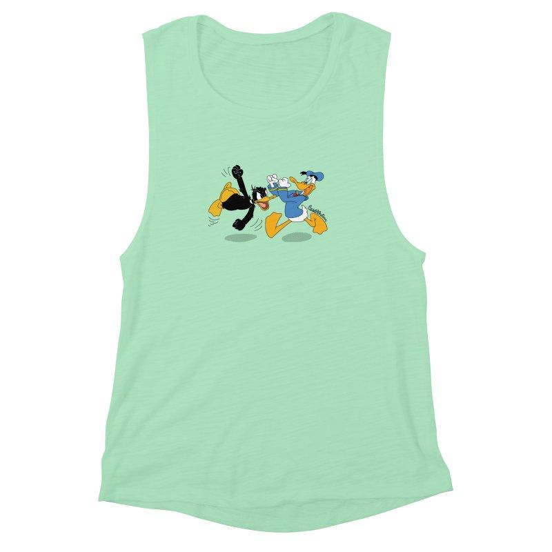 Mr. D. Duck Women's Muscle Tank by Cart00nlion's Artist Shop
