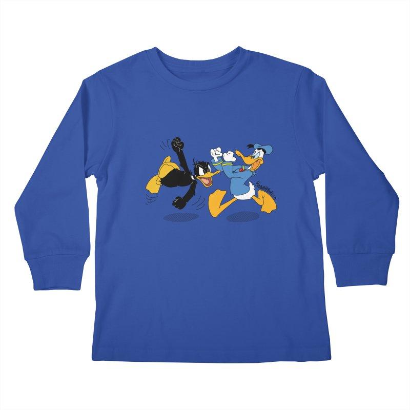 Mr. D. Duck Kids Longsleeve T-Shirt by Cart00nlion's Artist Shop