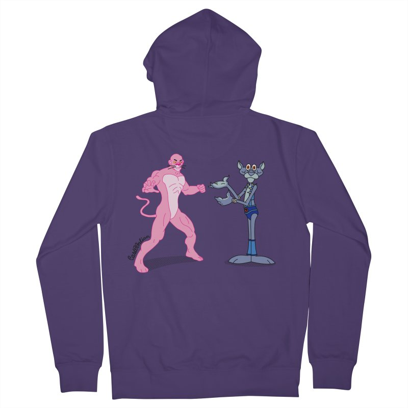 Pink Panthro Women's Zip-Up Hoody by Cart00nlion's Artist Shop