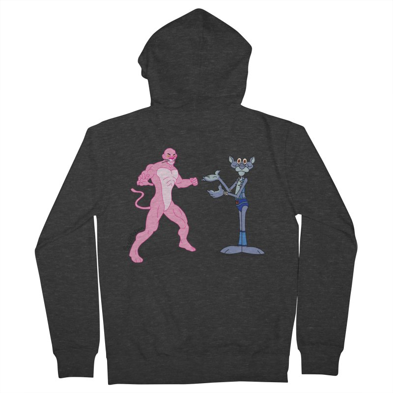 Pink Panthro Men's Zip-Up Hoody by Cart00nlion's Artist Shop