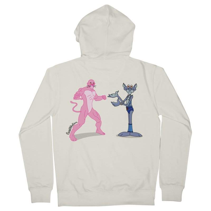 Pink Panthro Men's Zip-Up Hoody by Cart00nlion's Artist Shop