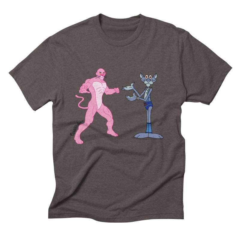 Pink Panthro Men's Triblend T-shirt by Cart00nlion's Artist Shop