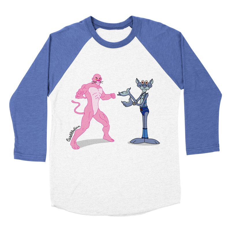 Pink Panthro Men's Baseball Triblend T-Shirt by Cart00nlion's Artist Shop