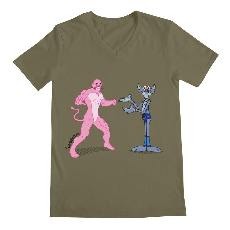 Pink Panthro Men's V-Neck by Cart00nlion's Artist Shop