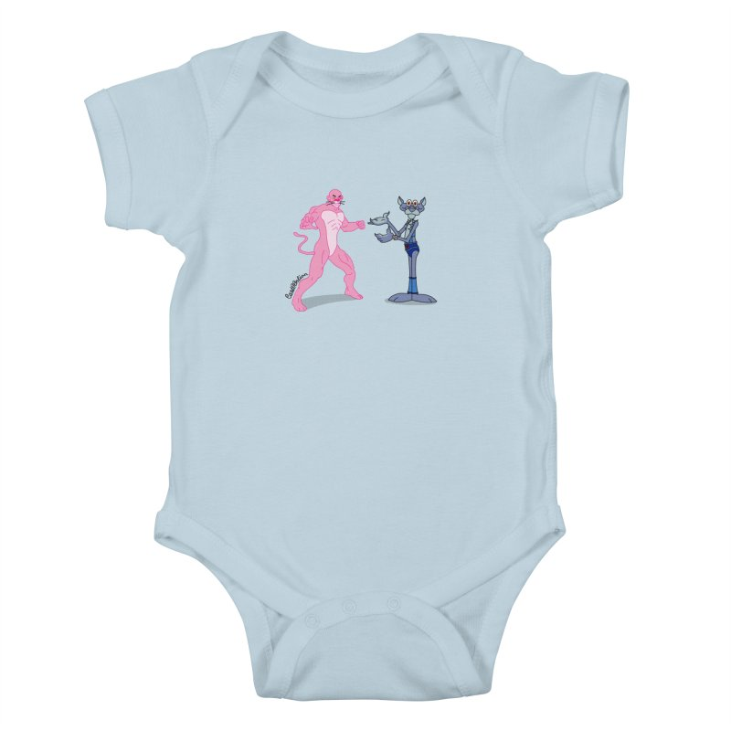 Pink Panthro Kids Baby Bodysuit by Cart00nlion's Artist Shop