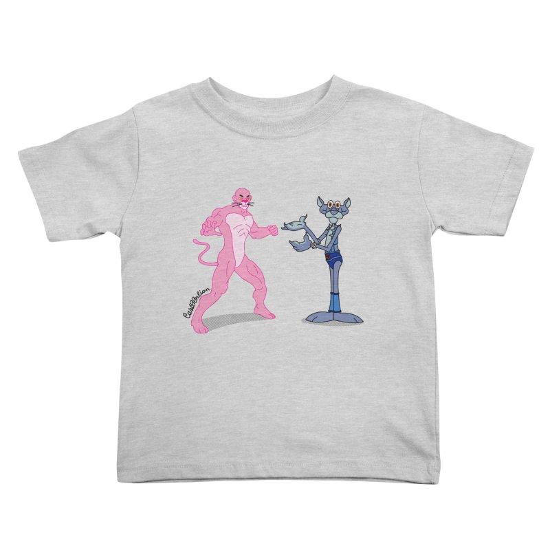Pink Panthro Kids Toddler T-Shirt by Cart00nlion's Artist Shop