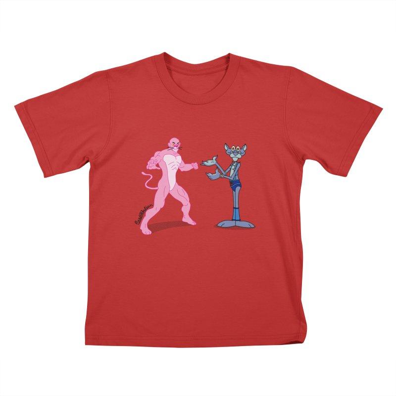 Pink Panthro Kids T-shirt by Cart00nlion's Artist Shop