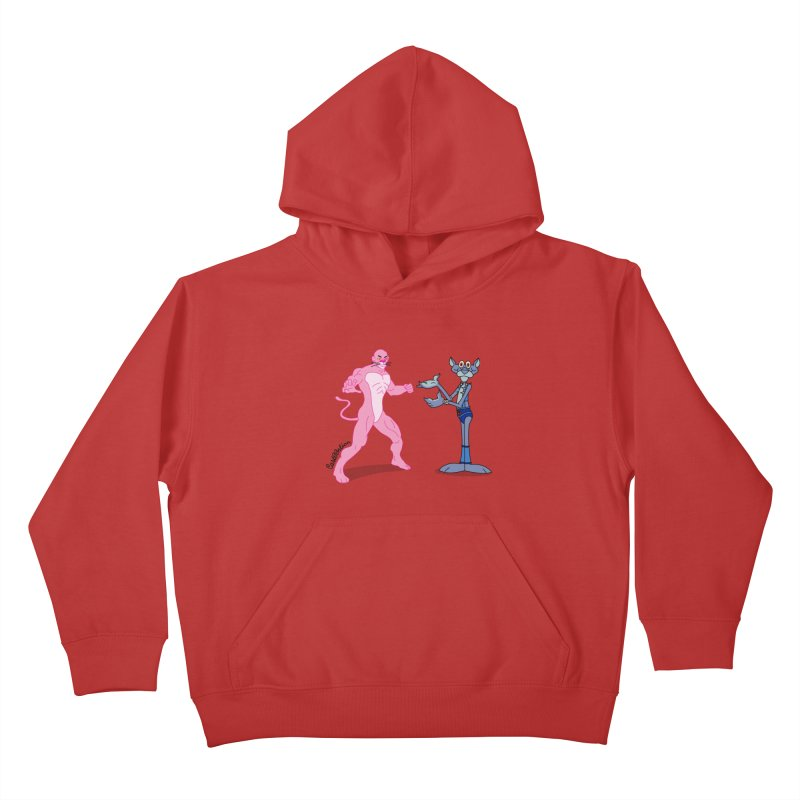 Pink Panthro Kids Pullover Hoody by Cart00nlion's Artist Shop