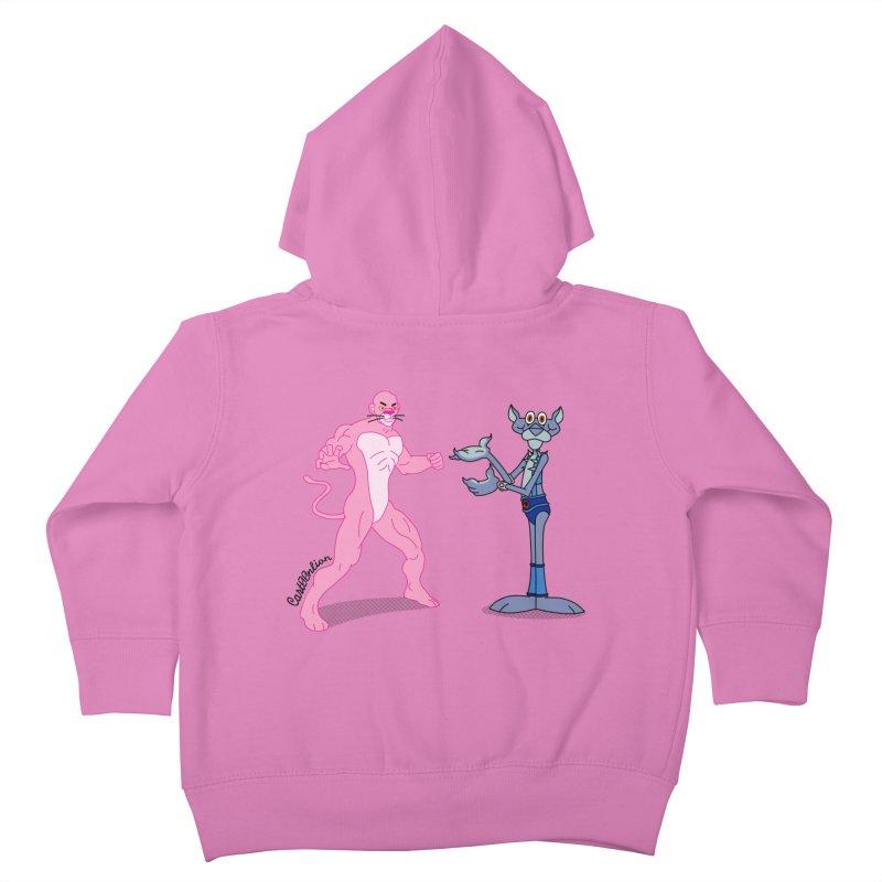 Pink Panthro Kids Toddler Zip-Up Hoody by Cart00nlion's Artist Shop