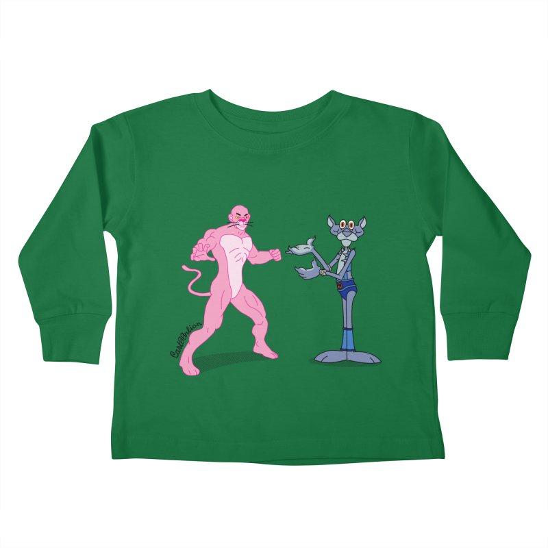 Pink Panthro Kids Toddler Longsleeve T-Shirt by Cart00nlion's Artist Shop
