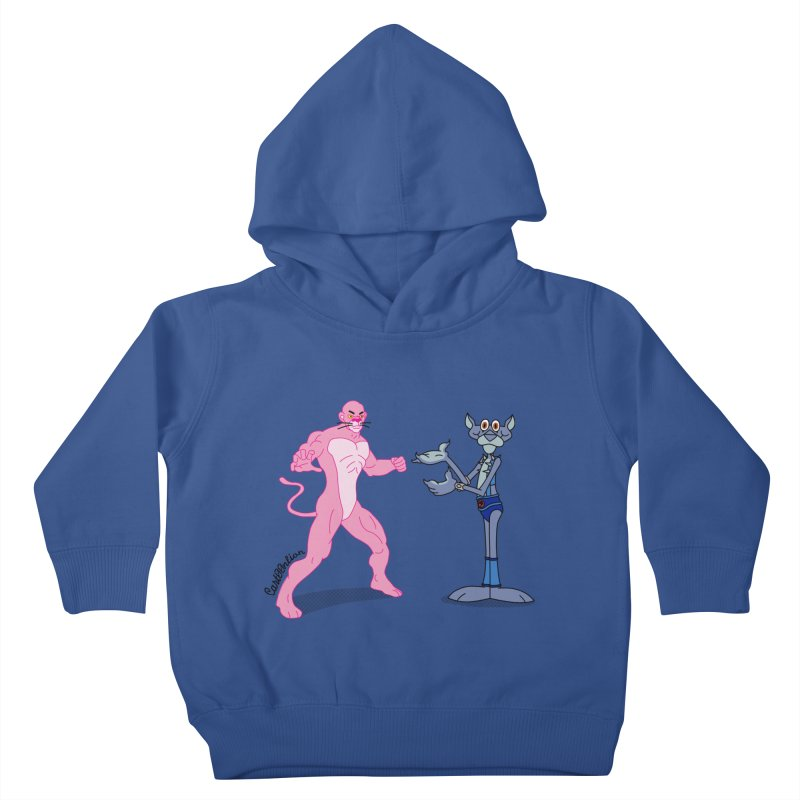 Pink Panthro Kids Toddler Pullover Hoody by Cart00nlion's Artist Shop