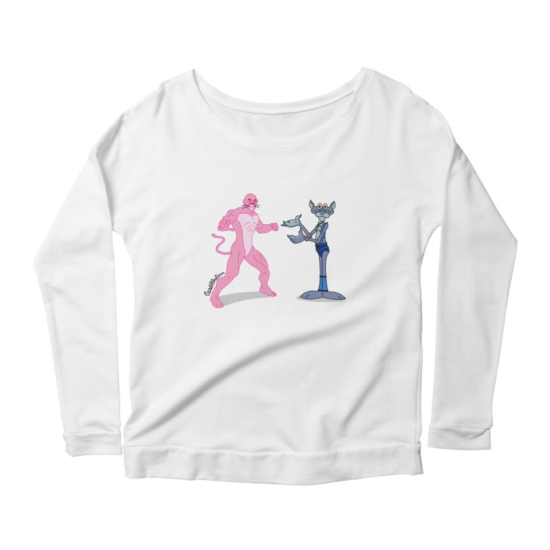 Pink Panthro Women's Scoop Neck Longsleeve T-Shirt by Cart00nlion's Artist Shop