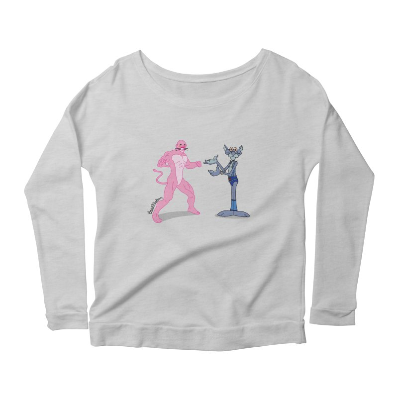 Pink Panthro Women's Longsleeve Scoopneck  by Cart00nlion's Artist Shop