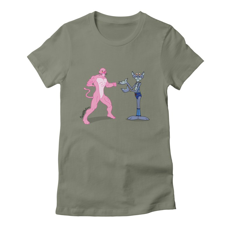 Pink Panthro Women's Fitted T-Shirt by Cart00nlion's Artist Shop