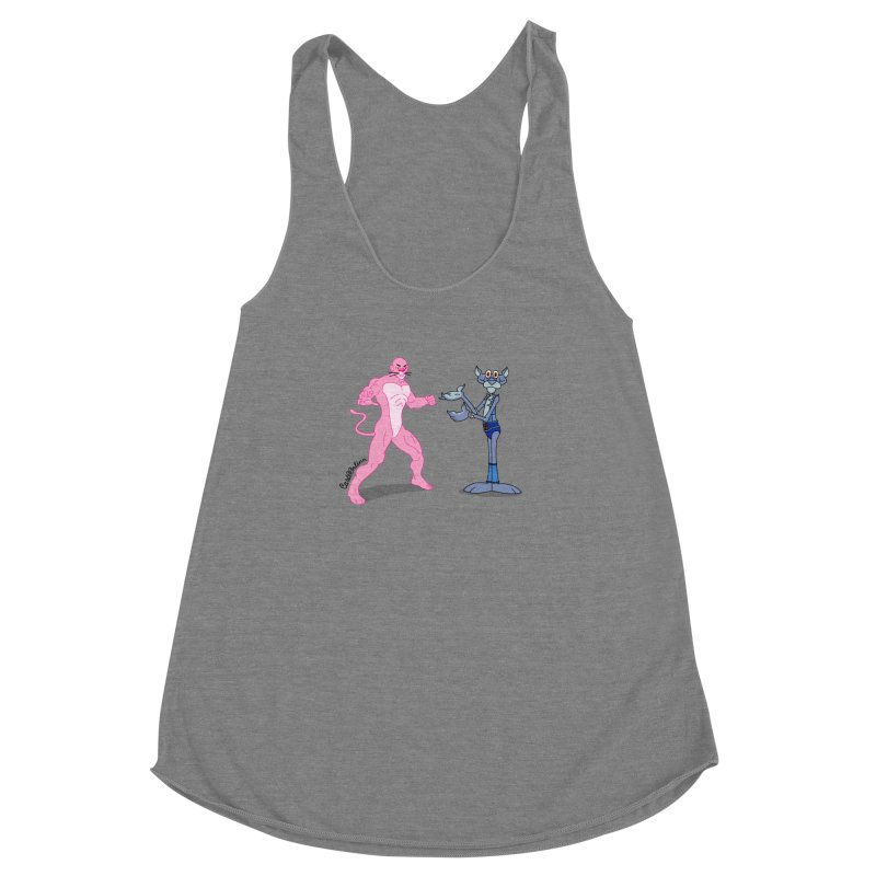 Pink Panthro Women's Racerback Triblend Tank by Cart00nlion's Artist Shop