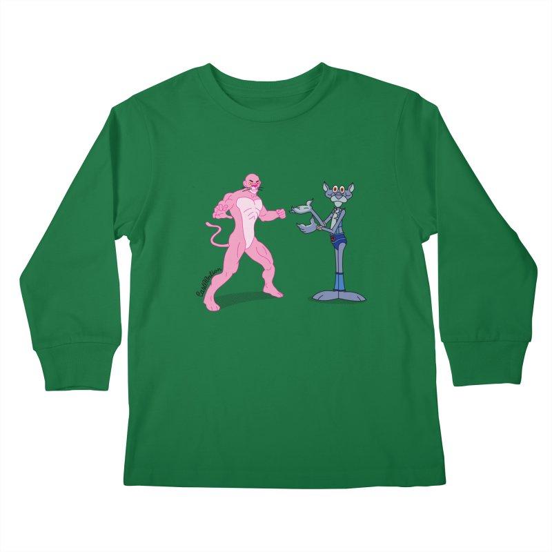 Pink Panthro Kids Longsleeve T-Shirt by Cart00nlion's Artist Shop
