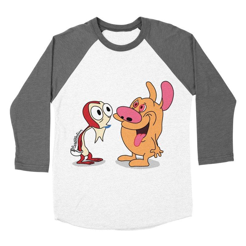 Sten & Rimpy Women's Baseball Triblend T-Shirt by Cart00nlion's Artist Shop