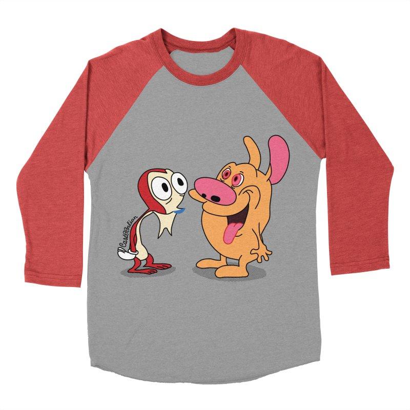 Sten & Rimpy Men's Baseball Triblend T-Shirt by Cart00nlion's Artist Shop