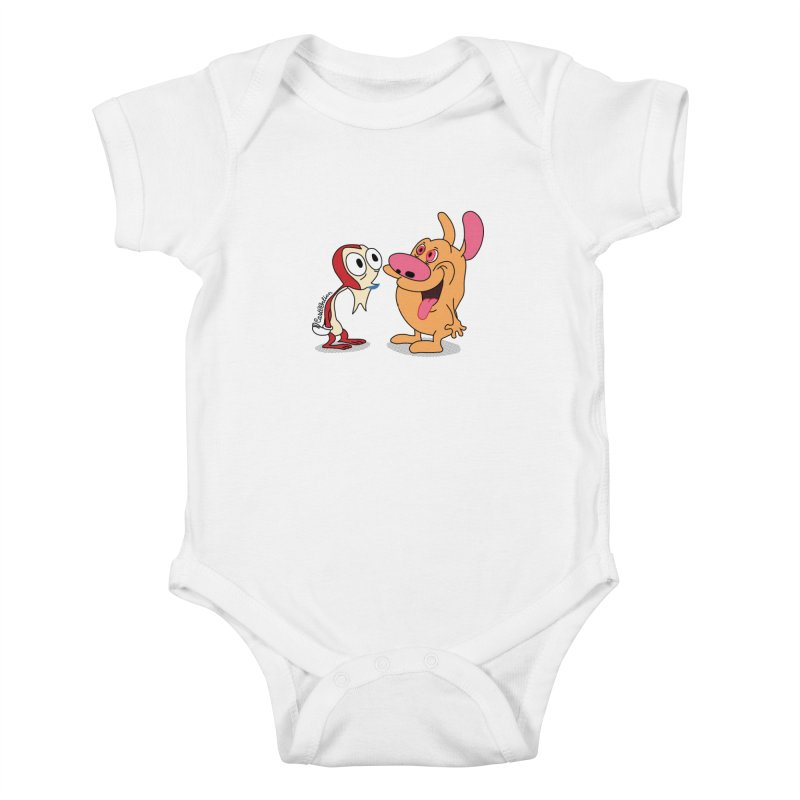 Sten & Rimpy Kids Baby Bodysuit by Cart00nlion's Artist Shop