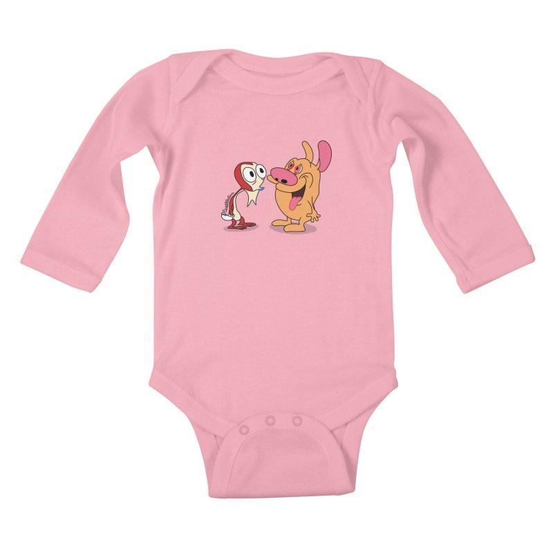 Sten & Rimpy Kids Baby Longsleeve Bodysuit by Cart00nlion's Artist Shop