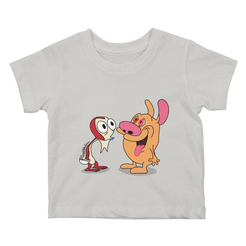 Sten & Rimpy Kids Baby T-Shirt by Cart00nlion's Artist Shop