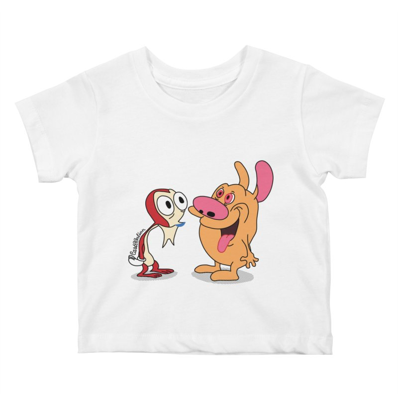 Sten & Rimpy Kids Baby T-Shirt by Cart00nlion's Artist Shop