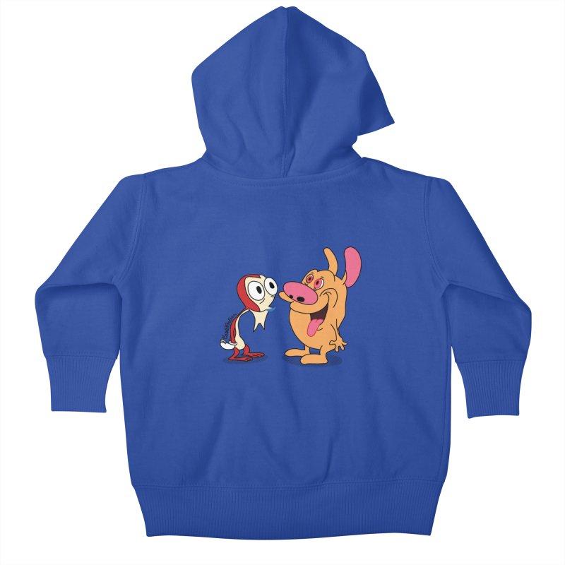Sten & Rimpy Kids Baby Zip-Up Hoody by Cart00nlion's Artist Shop