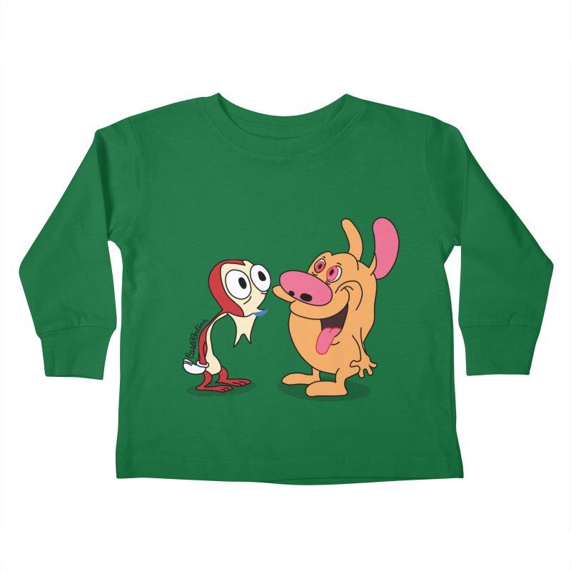 Sten & Rimpy Kids Toddler Longsleeve T-Shirt by Cart00nlion's Artist Shop